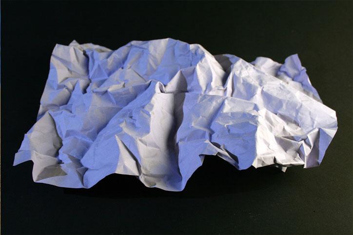 paper crumple