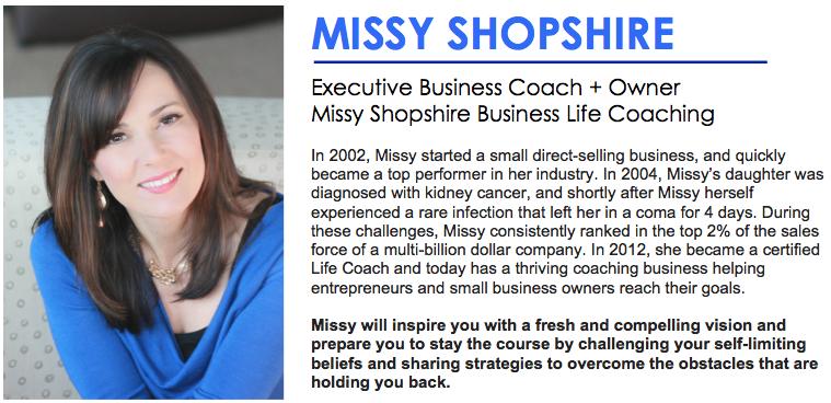 Missy Shopshire + MailChimp Header