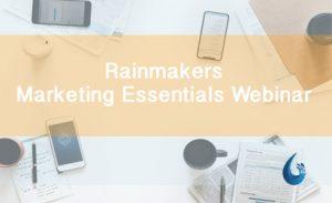 Marketing Essentials Webinar